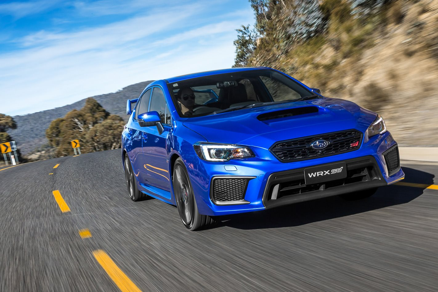 2018 Subaru Wrx And Sti Pricing Performance Gains Announced Blue With White Rims