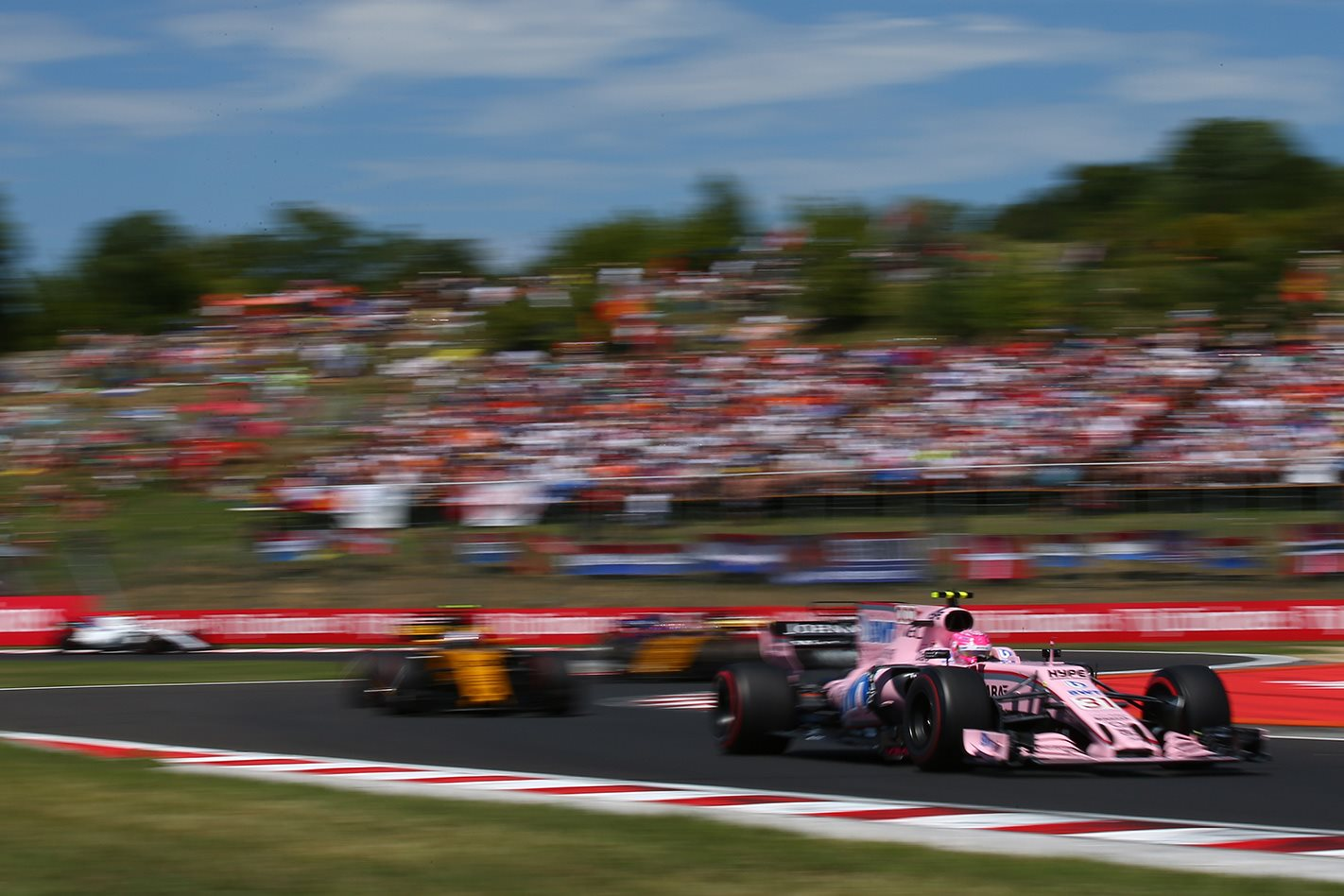 Seb Vettel wins the 2017 F1 Hungarian Grand Prix Force India