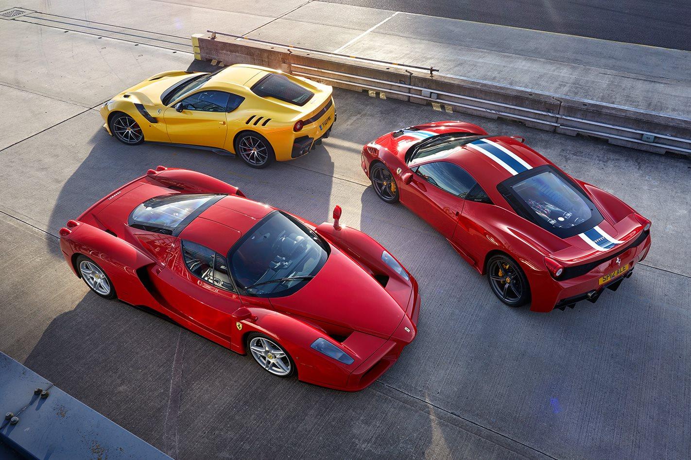 Ferrari Enzo V Ferrari F12 Tdf V Ferrari 458 Speciale Driven