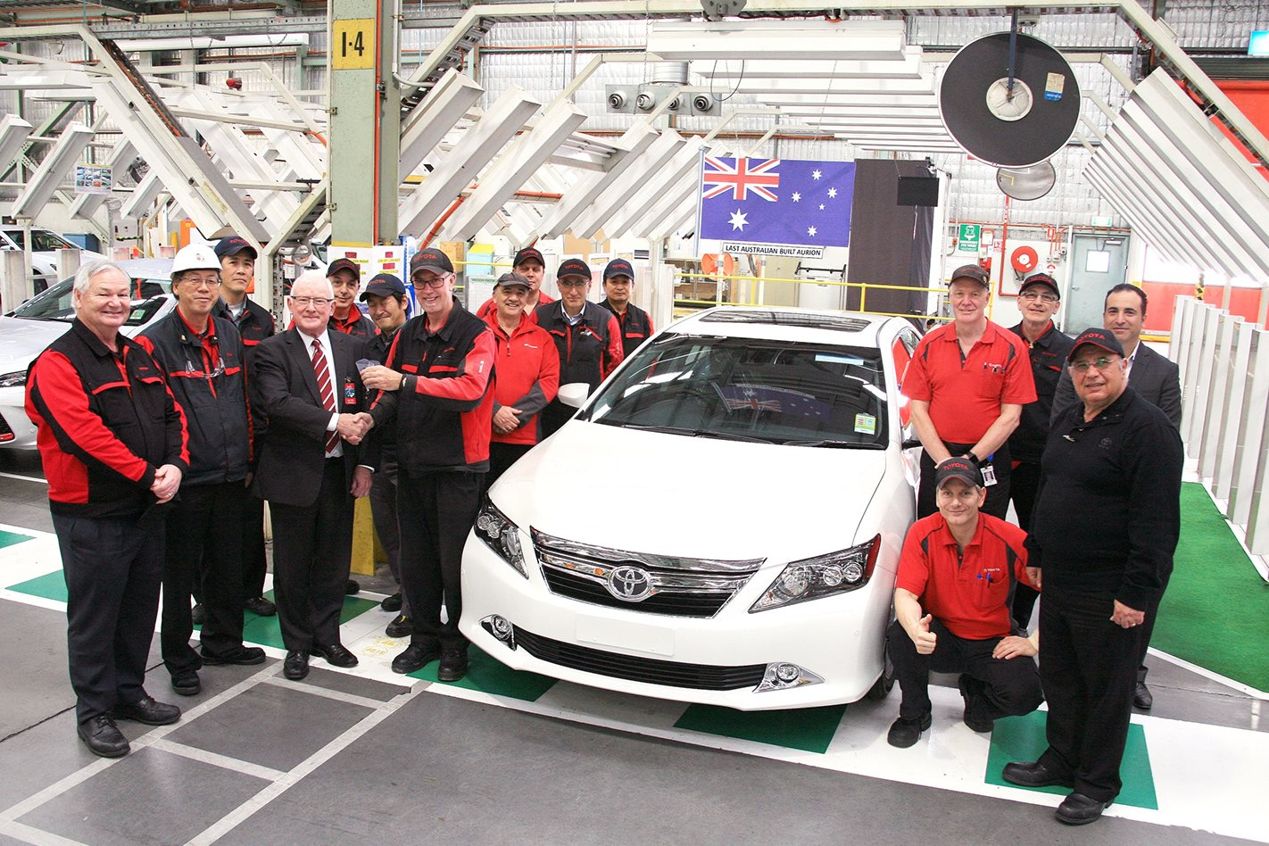 The last locally made Toyota Aurion line-off ceremony