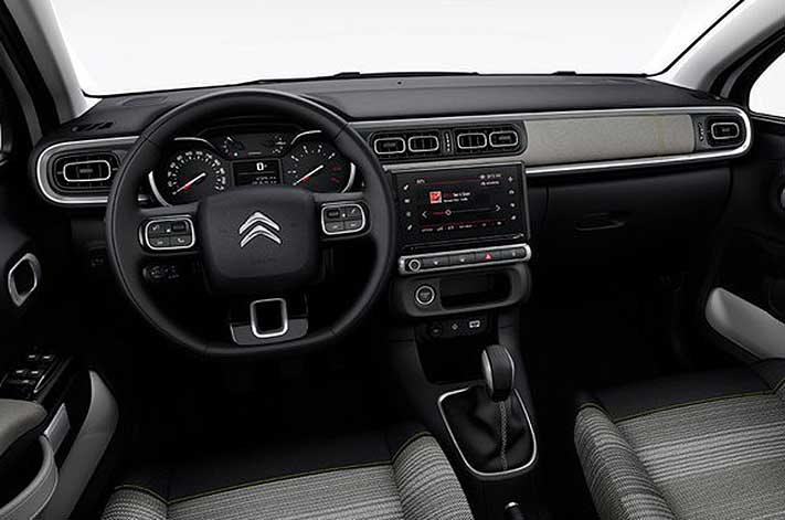 2018 Citroen C3 dashboard