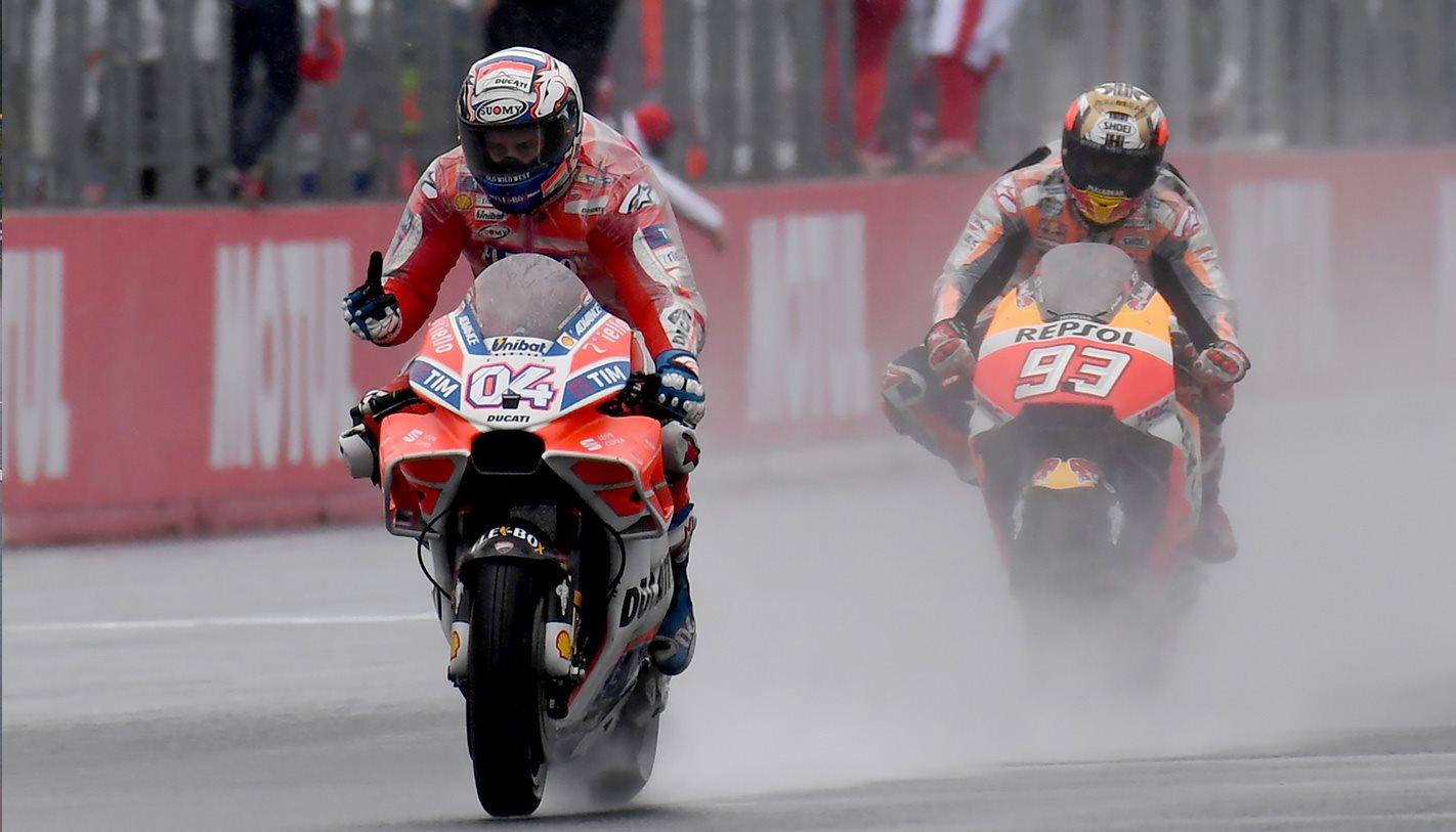 Moto GP rain