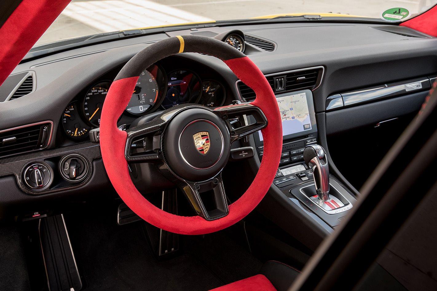 2018 Porsche 911 GT2 RS steering wheel