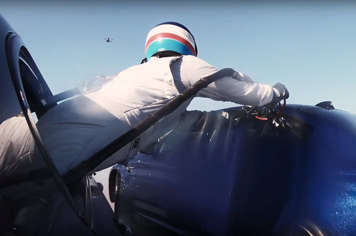 Refueling The 2018 BMW M5 Mid-Drift Is Hard, But Not Impossible
