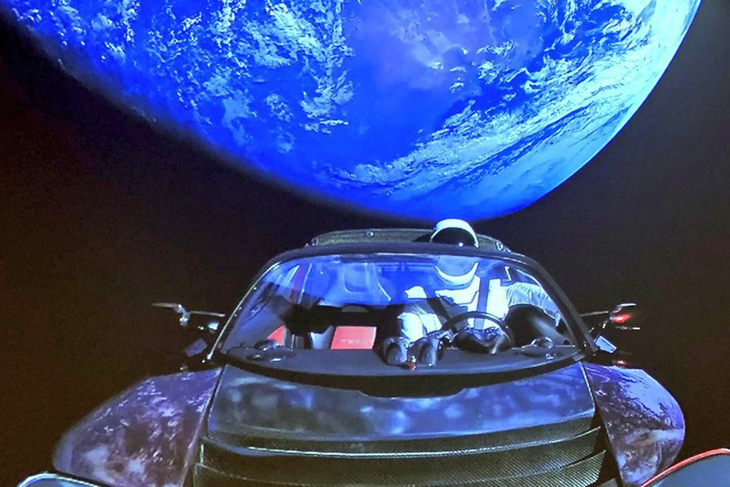 elon musk sends tesla roadster into space. Black Bedroom Furniture Sets. Home Design Ideas