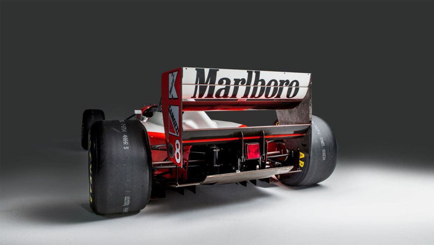 The 1993 Monaco Grand Prix winning McLaren MP4/8 was sold at auction ...