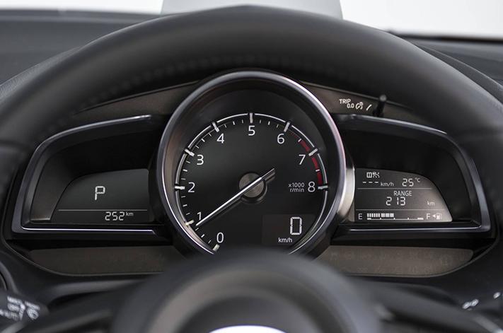 Spy shots show digital gauges for Mazda 3