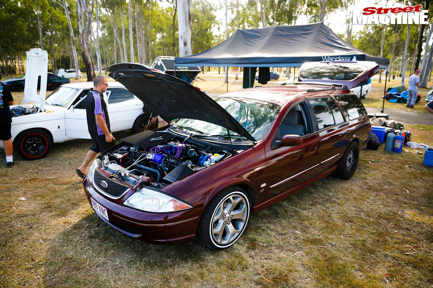 347ci V8-powered AU Falcon wagon at Drag Challenge Weekend 2018