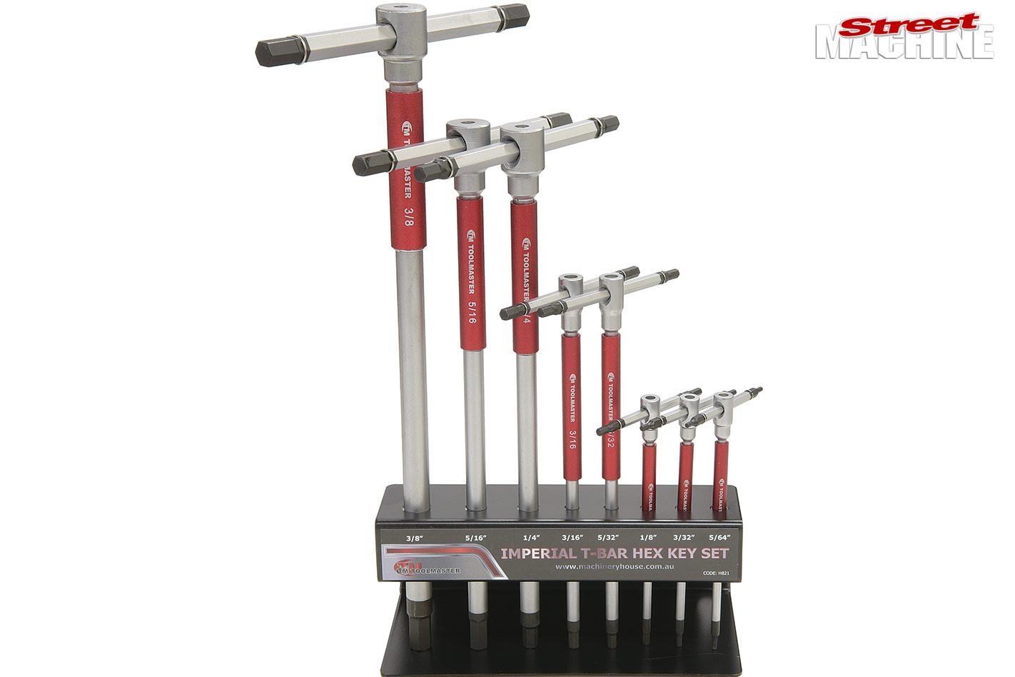 New street machine gear: T-Bar Hex key set + Dual-Quad & Carb Kits +