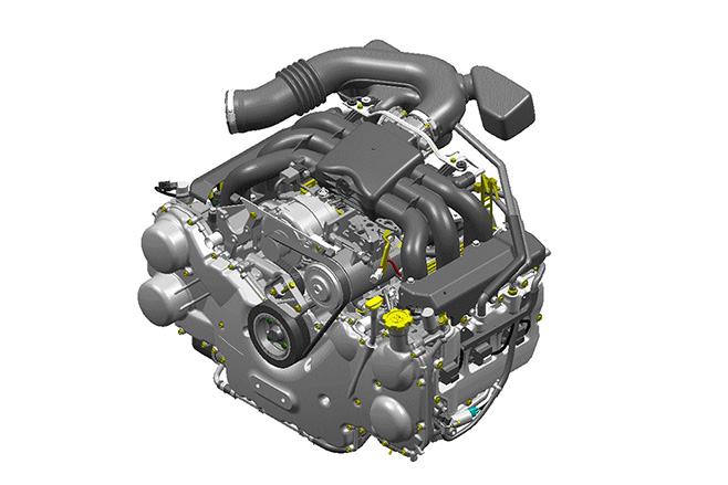 With Big Displacement Six Cylinder Engines Andsel Powerplants Falling Out Of Favour Inoue Confirmed That Subaru Was Lo Ng Toward Adopting A Similar
