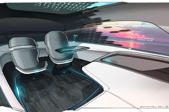 audi long distance lounge concept reveals its car interior of the future. Black Bedroom Furniture Sets. Home Design Ideas