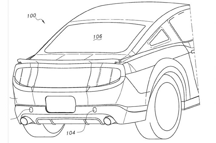 Ford Patents Fully Retractable Car Bike Carrier