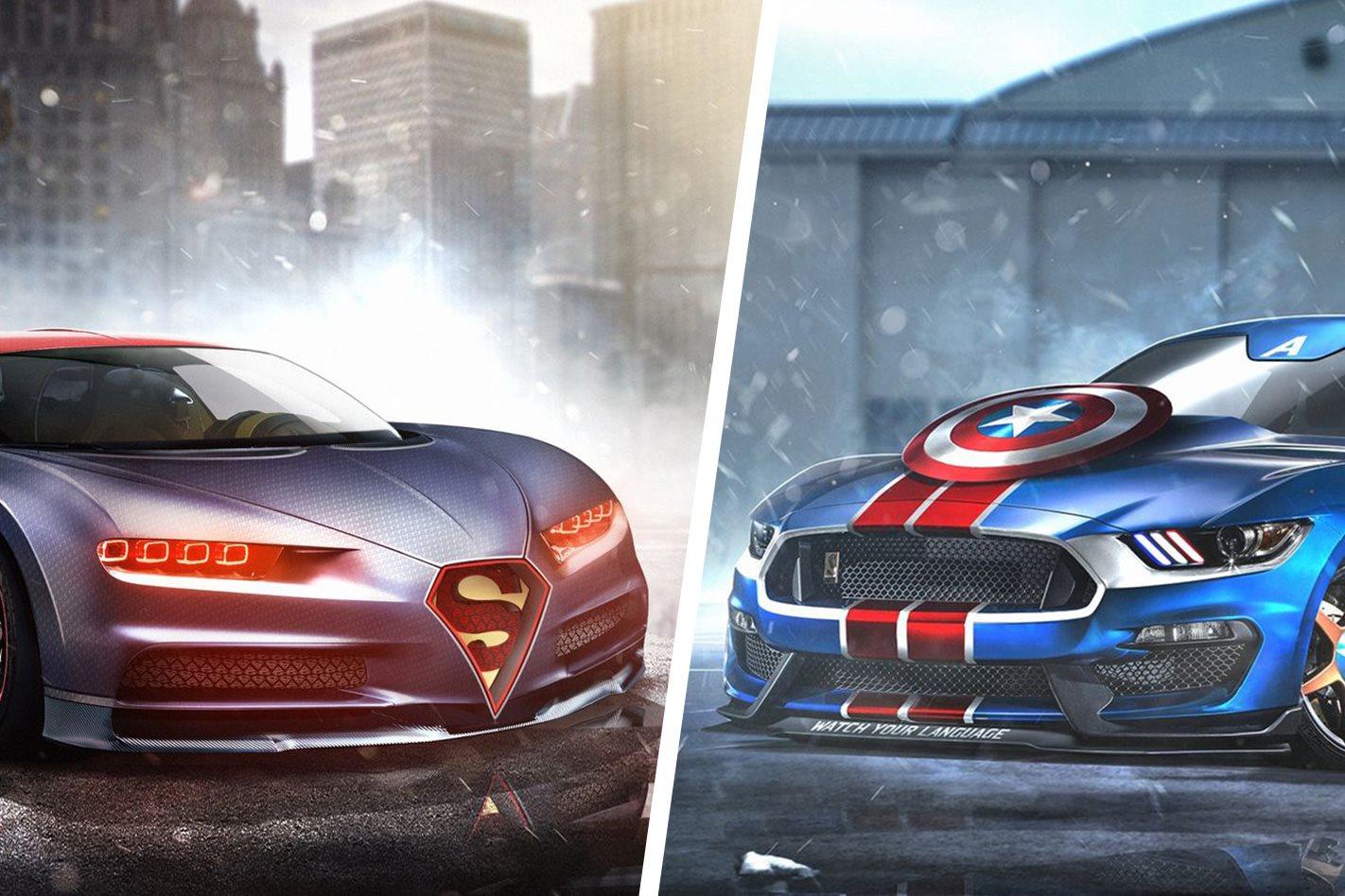 superhero cars reimagined   real world