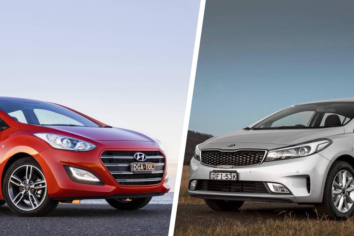 Hyundai i30 SR vs Kia Cerato Si comparison review
