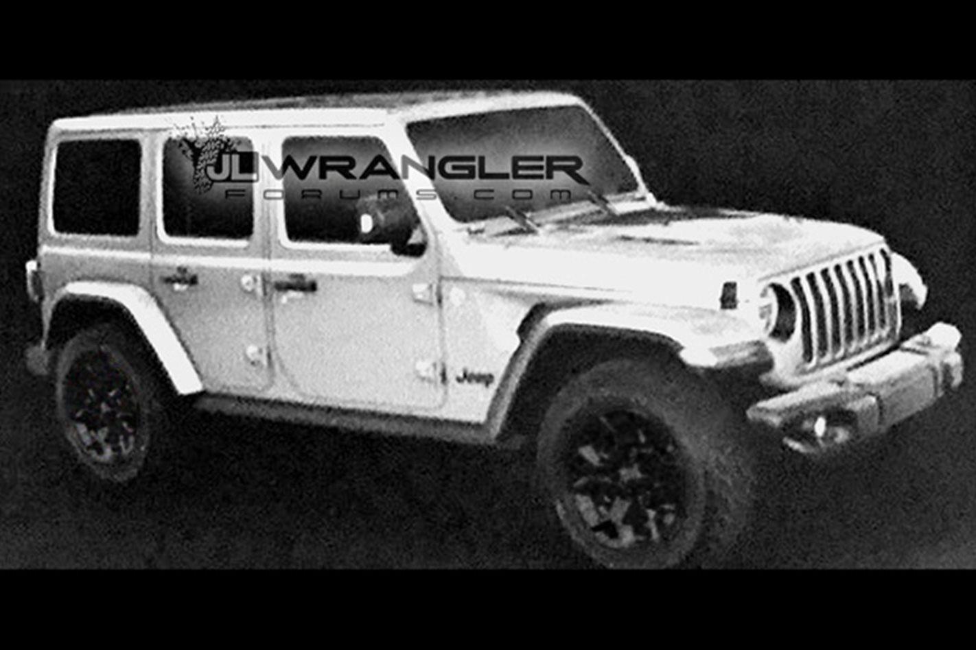 2018 jeep wrangler allegedly breaks cover in leaked pics. Black Bedroom Furniture Sets. Home Design Ideas