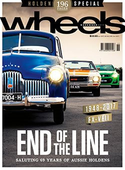 Wheels November 2017 Magazine cover