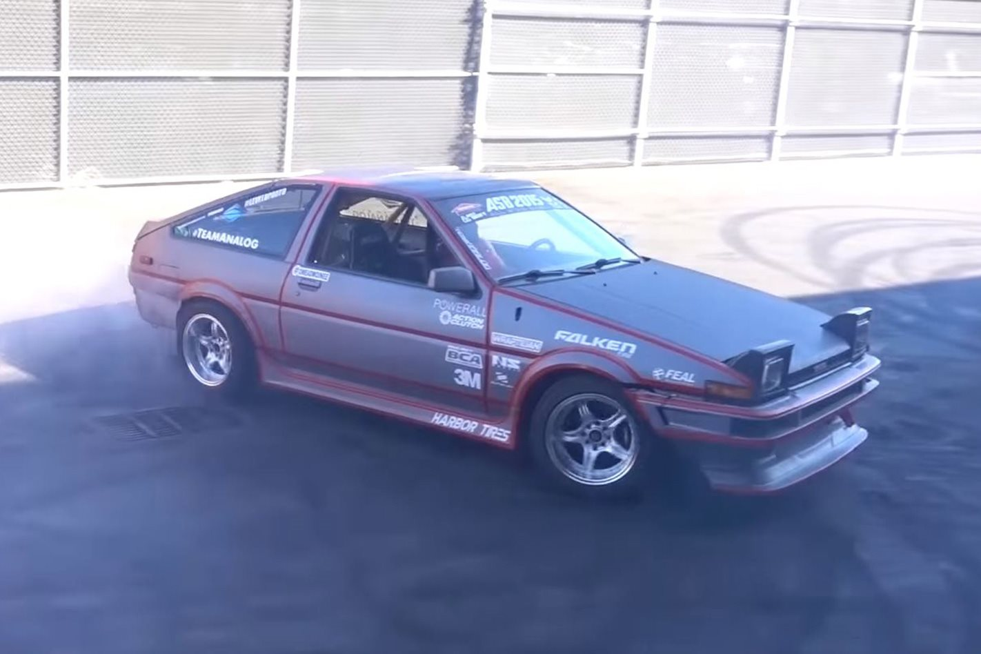 electric Toyota AE86 drifting