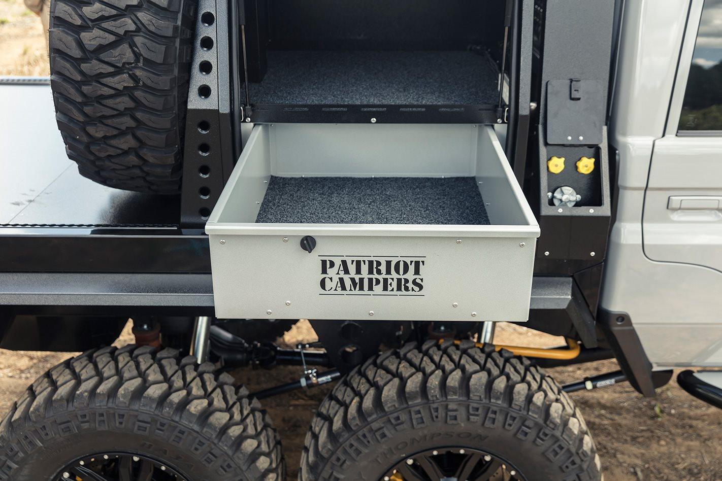 Patriot-Campers-6x6-Toyota-LC79 storage