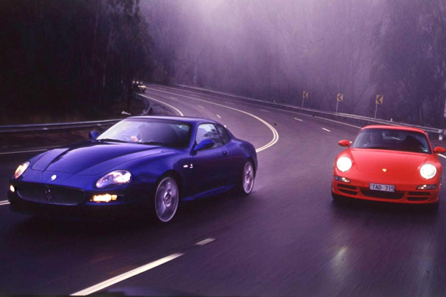 2005 maserati gransport vs porsche 911 carrera s comparison review