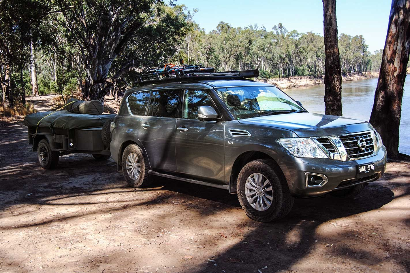 2017 Nissan Patrol Ti-L to the Murray River: 4x4 Shed