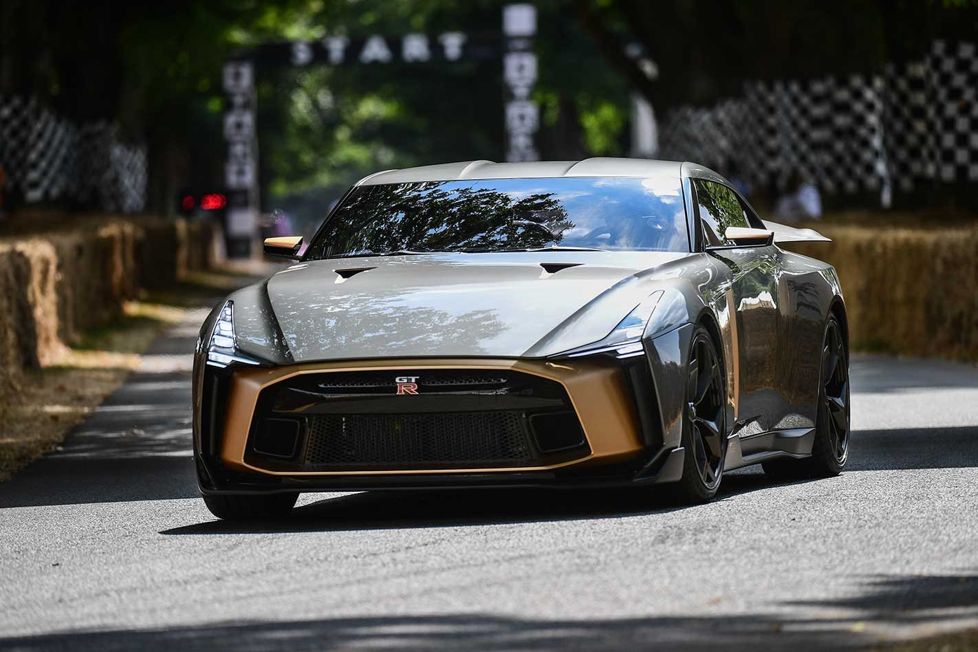 Nissan GT-R50 by Italdesign in action at Goodwood