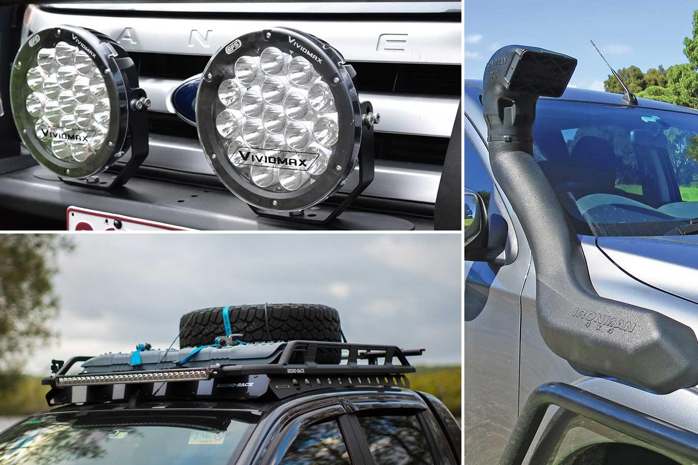 New 4x4 Gear: EFS LED driving lights, Rhino-Rack wind