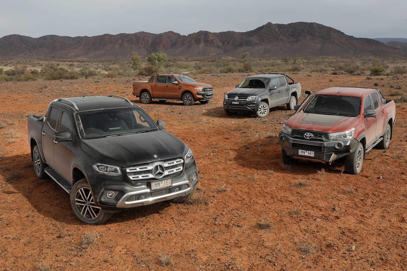 8eb20341a5 2018 Ford Ranger vs Mercedes-Benz X-Class vs Toyota Hilux vs VW Amarok  outback comparison review