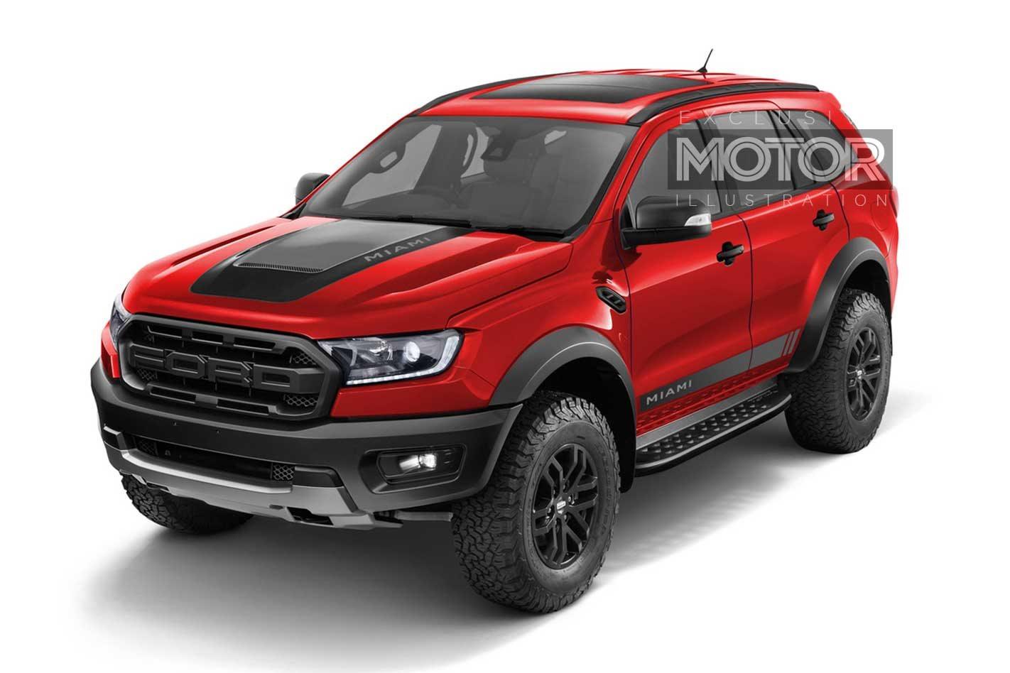 Ford everest raptor miami sweet dream