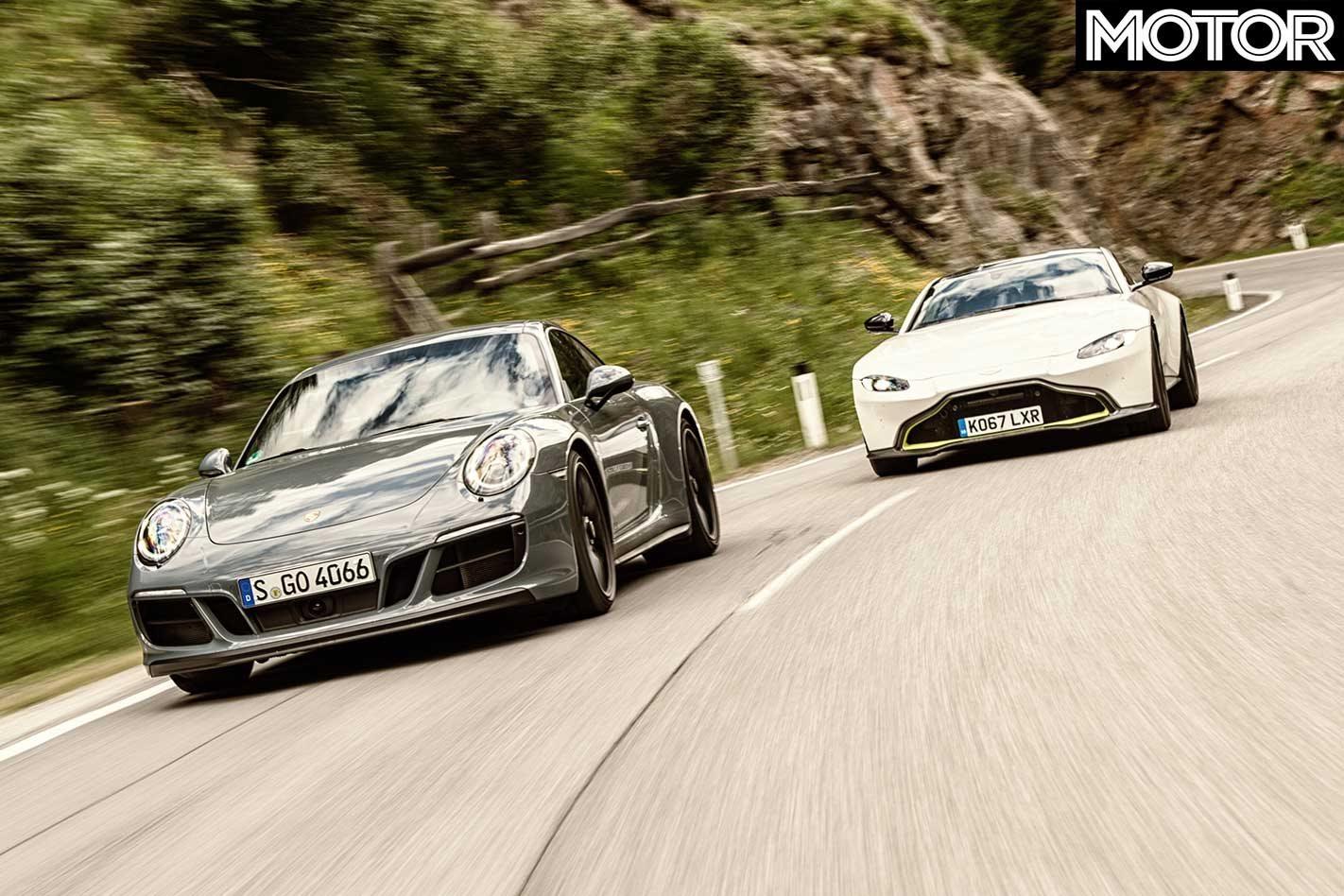 2018 Aston Martin Vantage Vs Porsche 911 Carrera 4 Gts Vs Mercedes Amg Gt C Performance Comparison Review