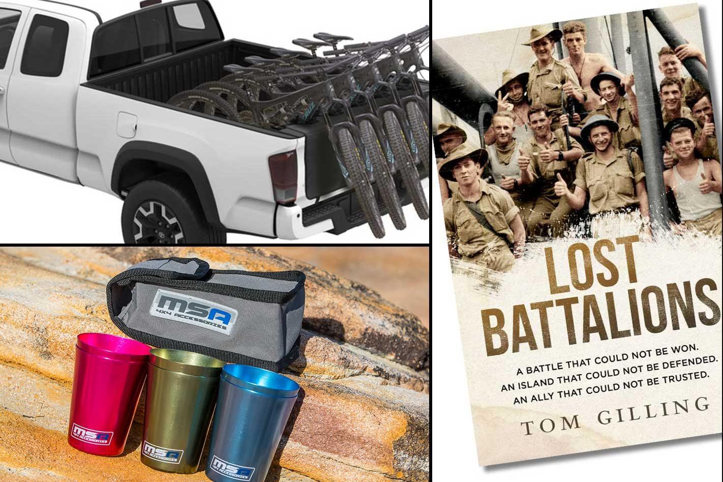 New 4x4 Gear Yakima Tailgate Pad Msa 4x4 Travel Cup Lost Battalions Book