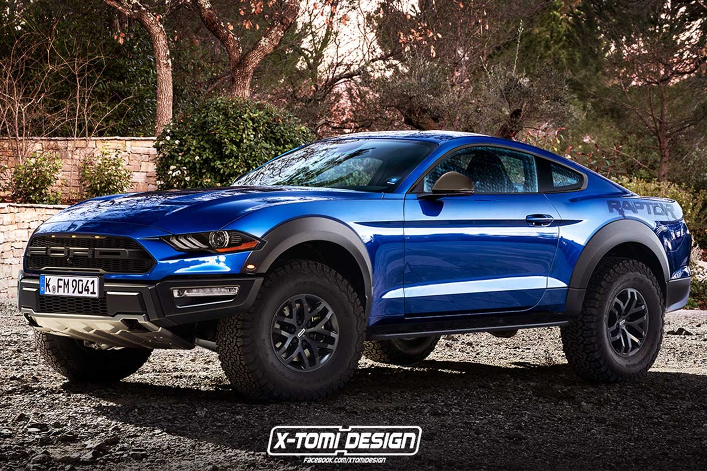 Ford Mustang Raptor Rendered