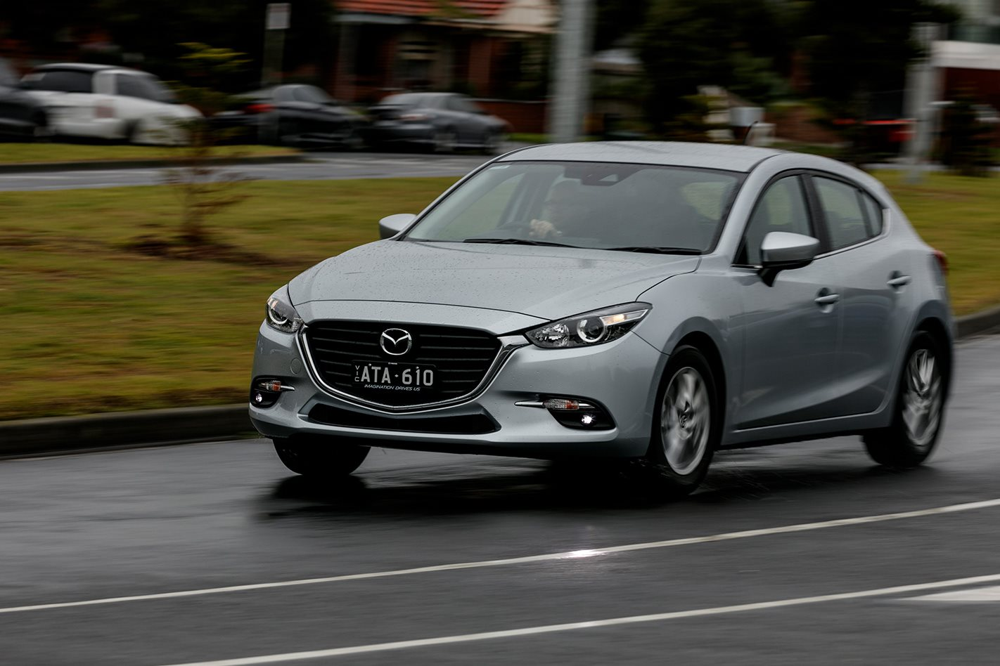 The Mazda 3 Is An Enjoyable Car To Drive, With Light But Engaging Steering  That Makes Easy Work Of Negotiating Suburban Streets And Bendy Country  Roads.