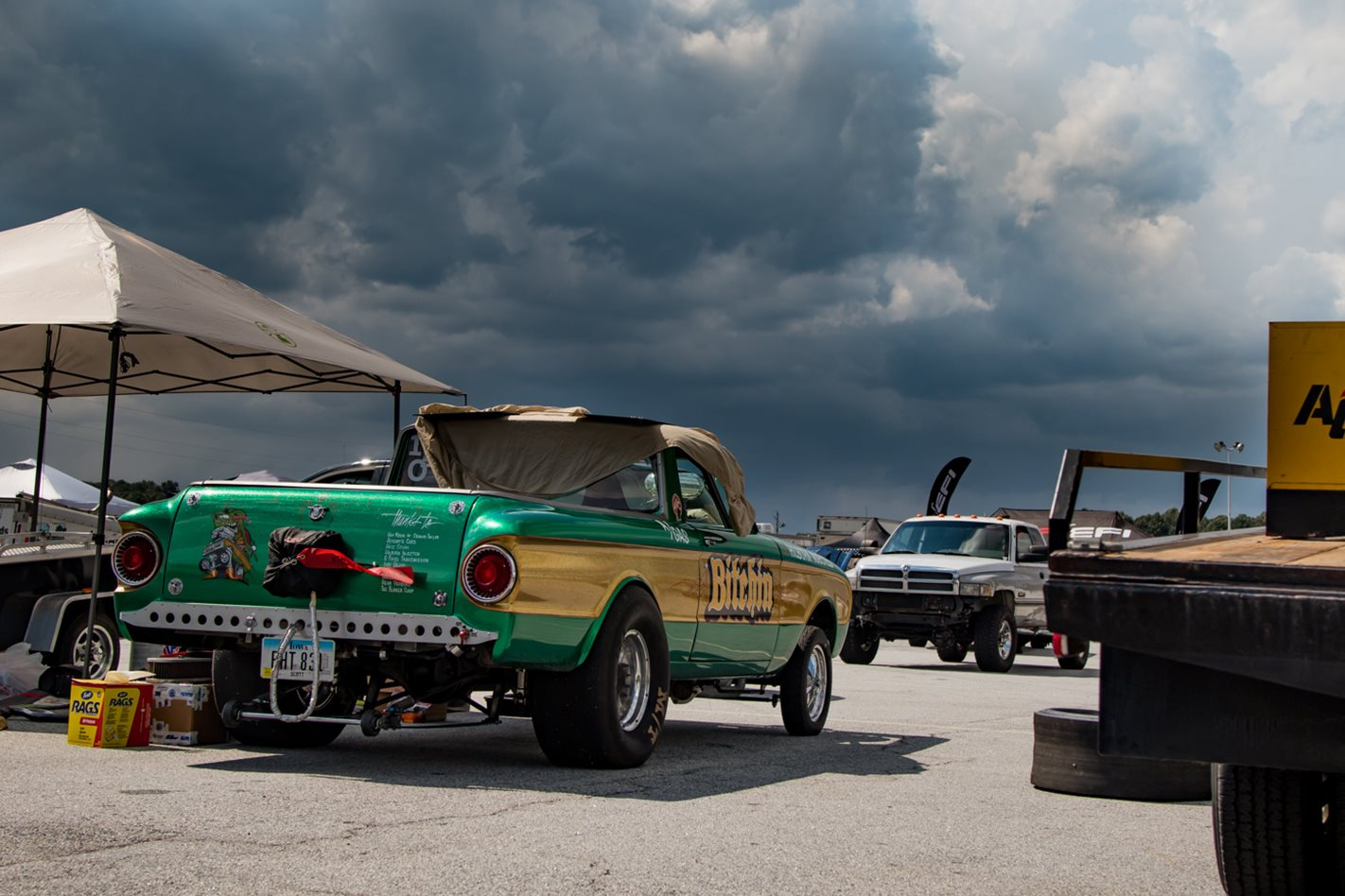 Jarrad Scott's blown Hemi-powered 1962 Ford Ranchero gasser