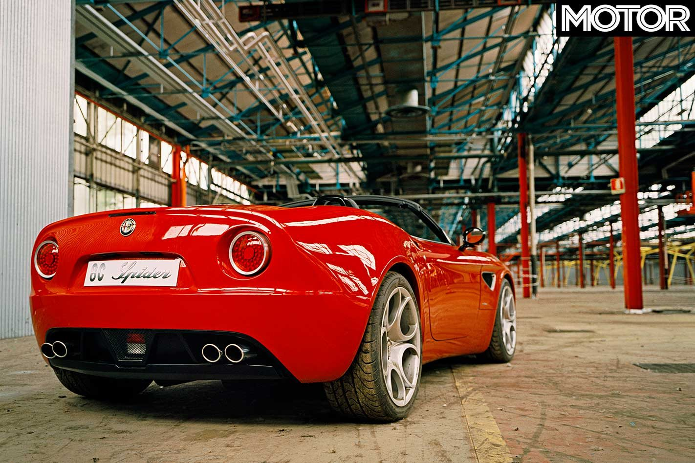 2006 Alfa Romeo 8c Spider Prototype Review Classic Motor Rear End In The We Assigned This Task To Two Pensioners Who Had Conceived Roof For Duetto Way Back When