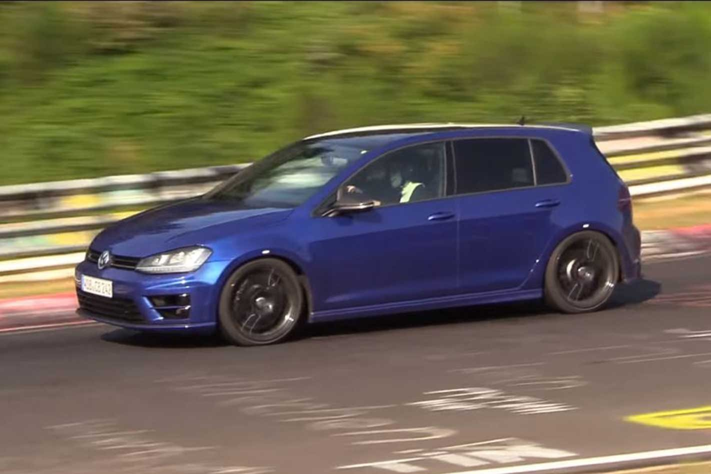 Volkswagen has been testing a 5-cylinder Golf R