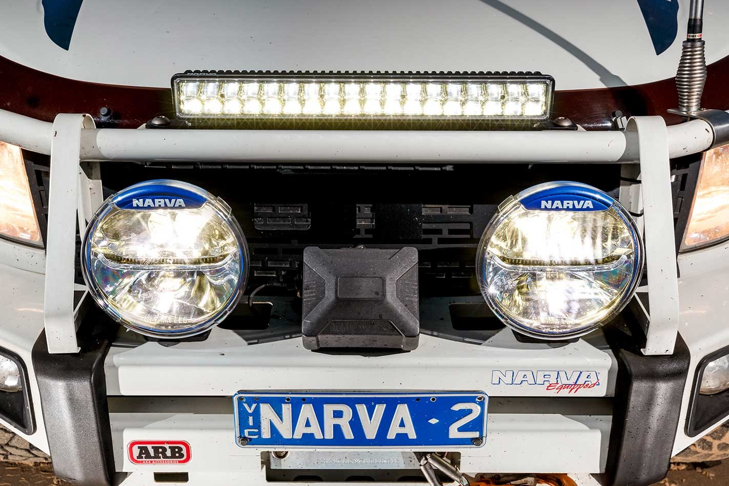Narva Ultima LED 225 driving lights and Explora light bar ... on