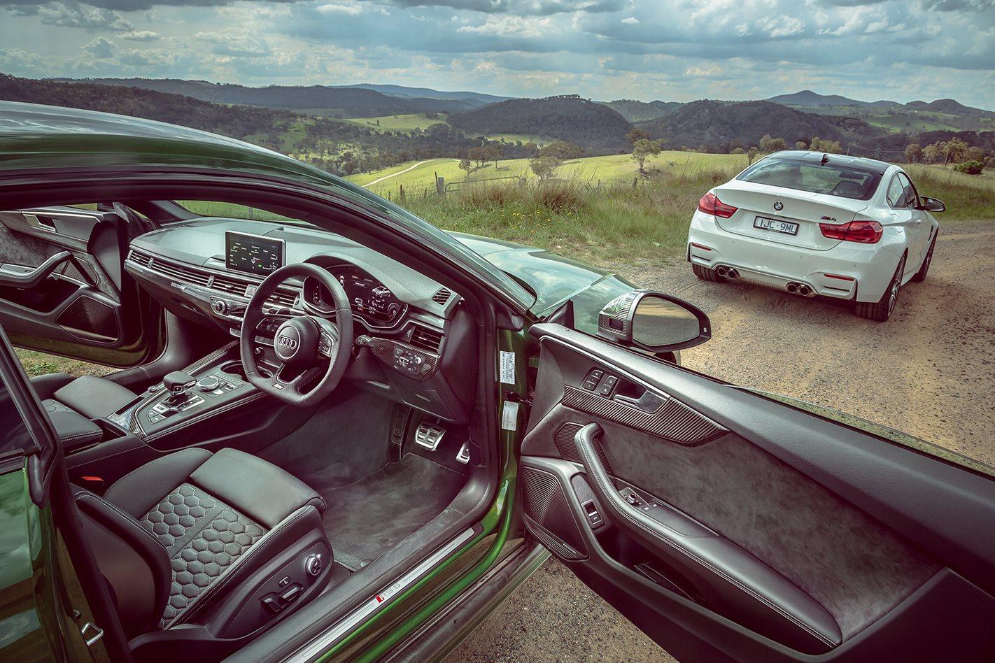 Audi RS5 vs BMW M4 vs Mercedes-AMG C63 comparison