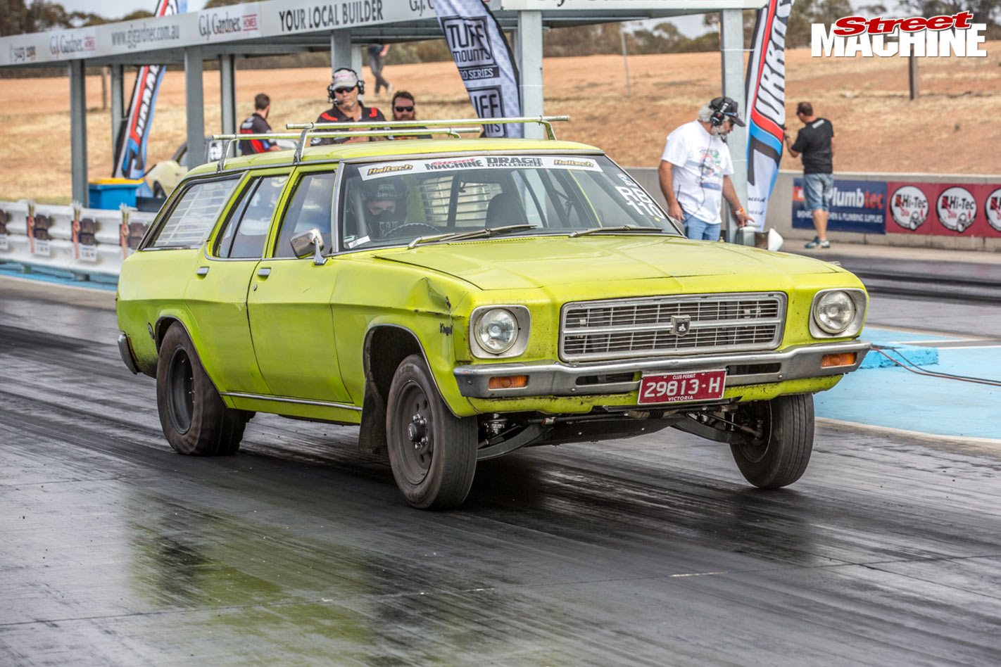 900hp, nine-second turbo HQ Kingswood wagon at Drag Challenge 2018