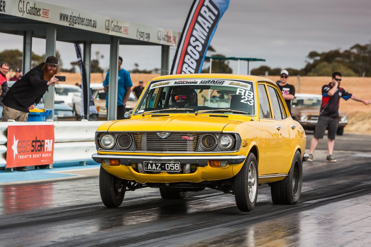 Turbocharged Rotary Powered Mazda Capella Runs Nines At Drag Challenge 2018