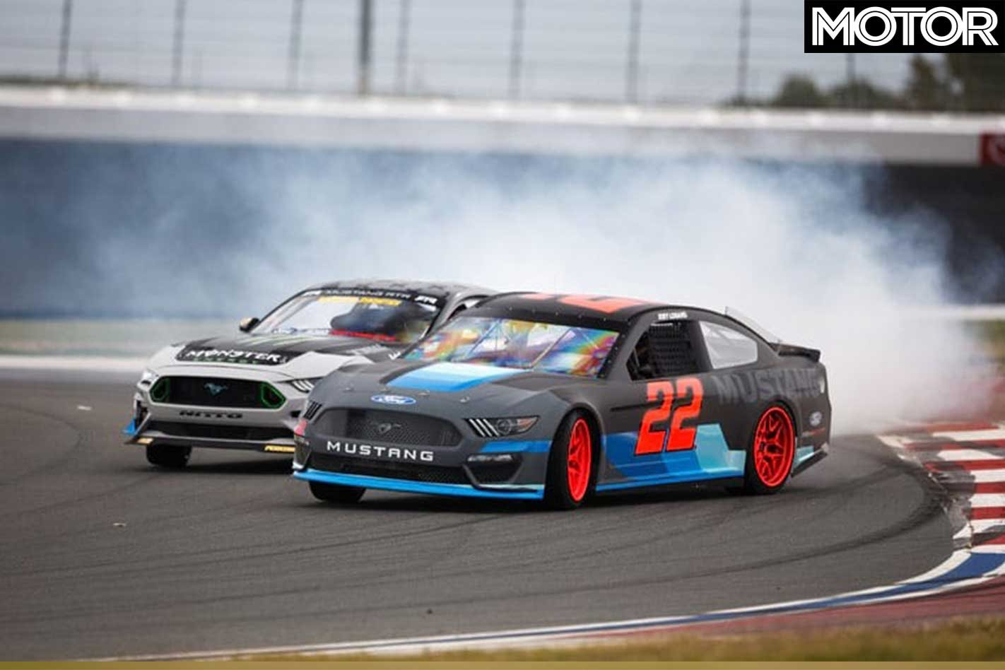 Formula drift champion vaughn gittin jr and 2018 nascar cup champion joey logano have taken introduced the 2019 ford nascar mustang to youtube by tandem