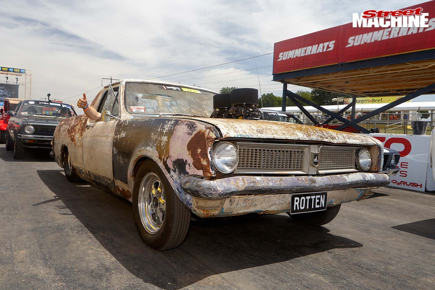 Patina encrusted 1971 HG Kingswood ute at Summernats 32