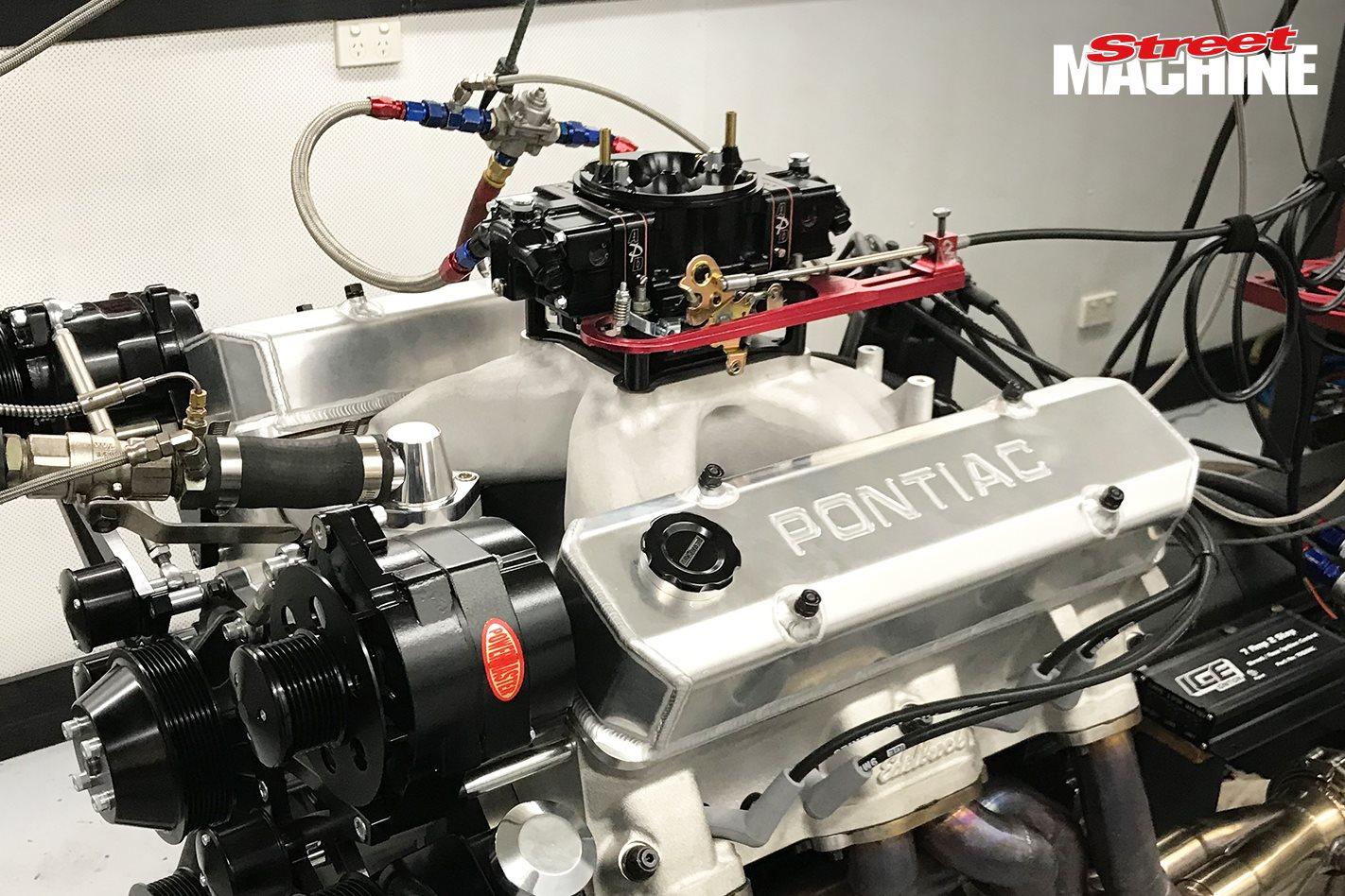 535ci Pontiac on the engine dyno – Video