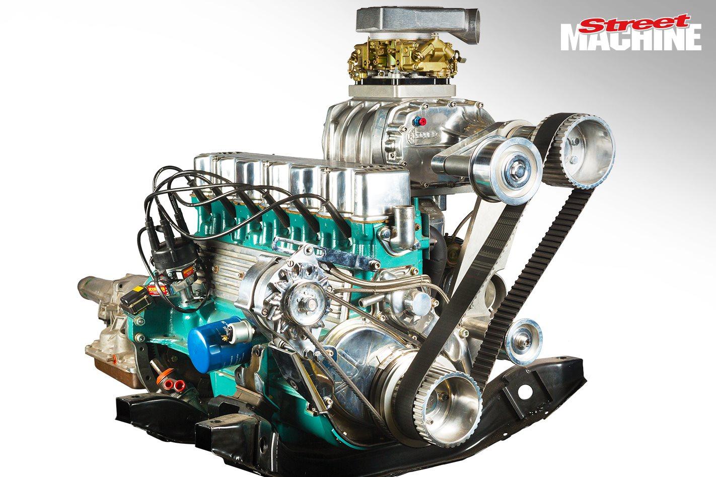 Turbo and supercharged Hemi six engine