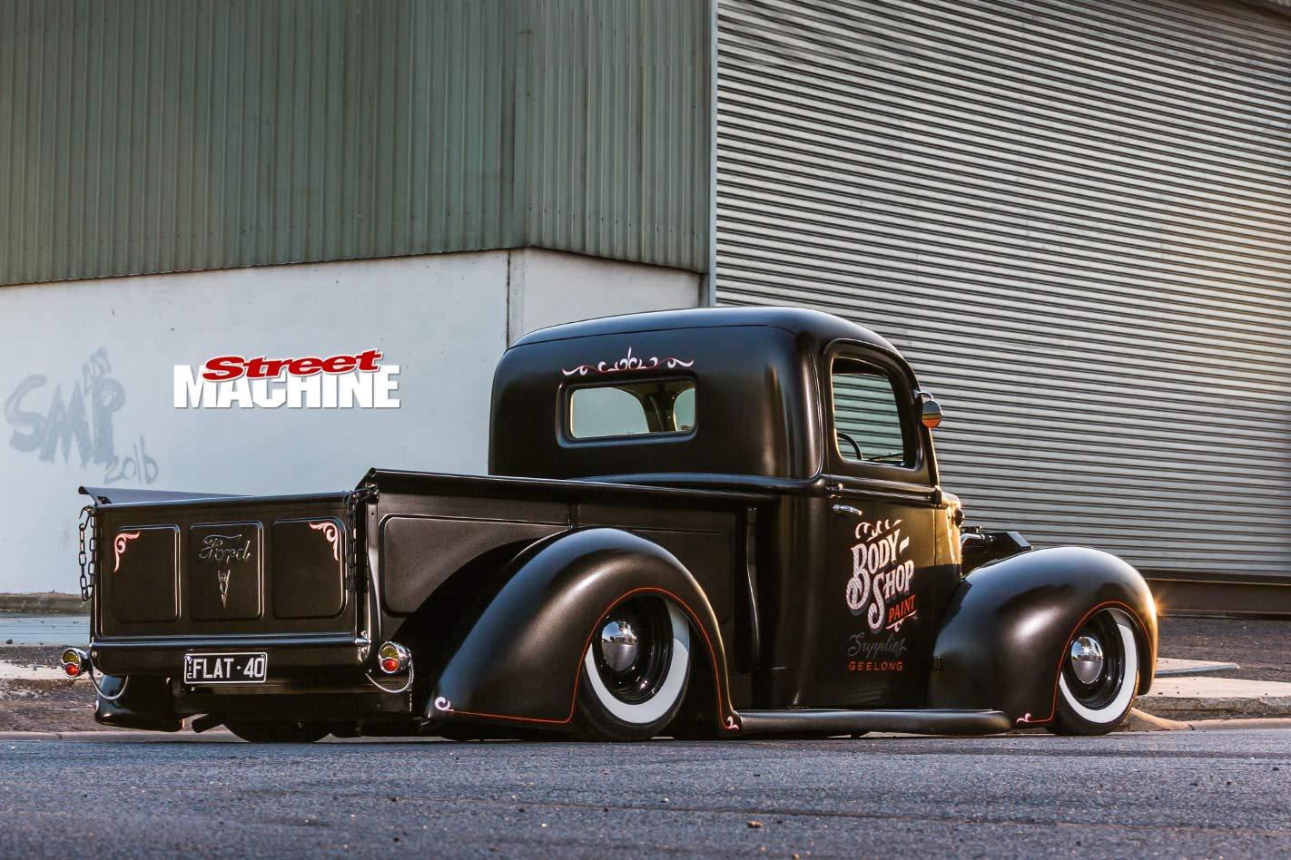 Slammed Ford Flathead V8-powered 1940 pick-up