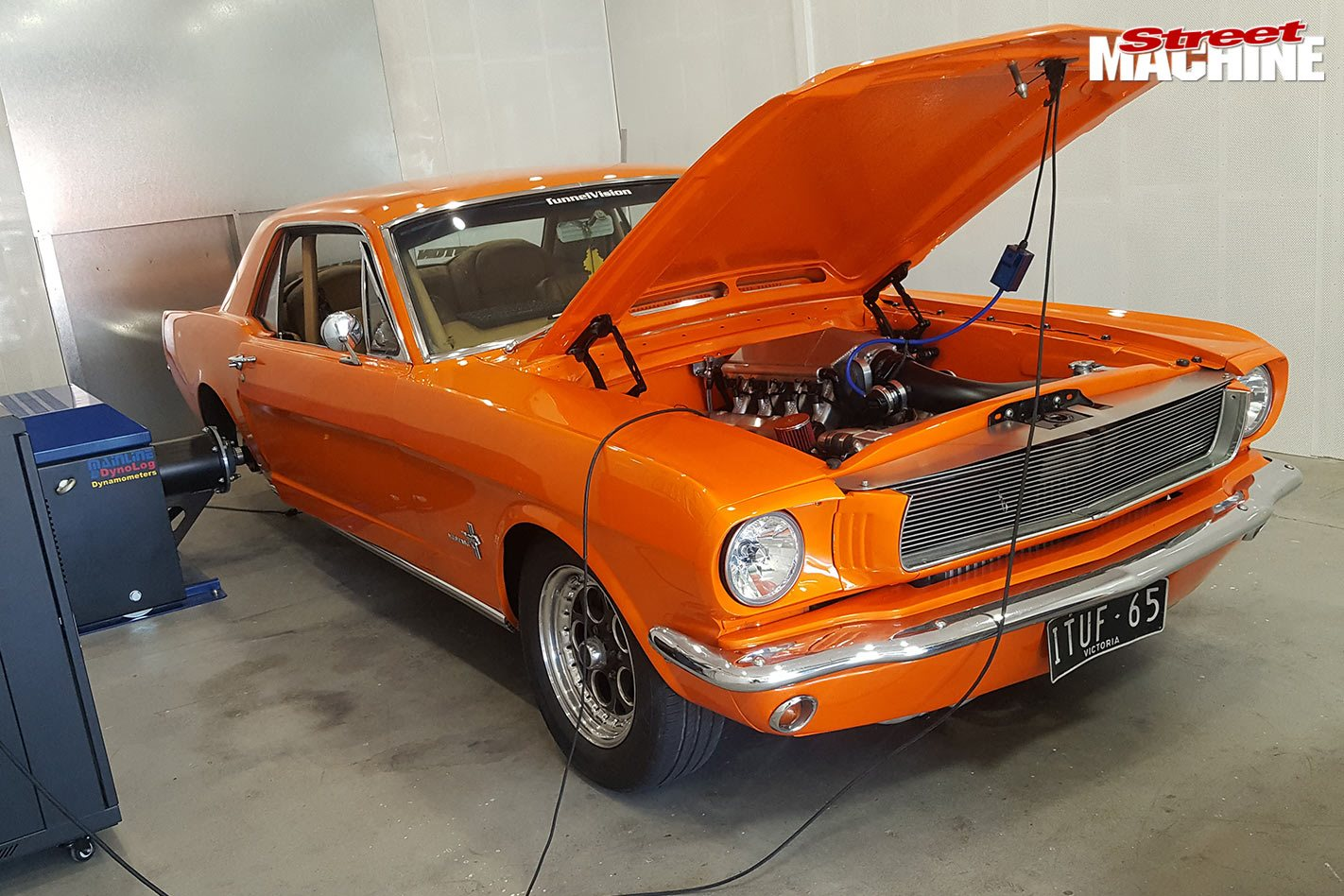 1965 mustang with a twin turbo 427 windsor makes over 1500hp video