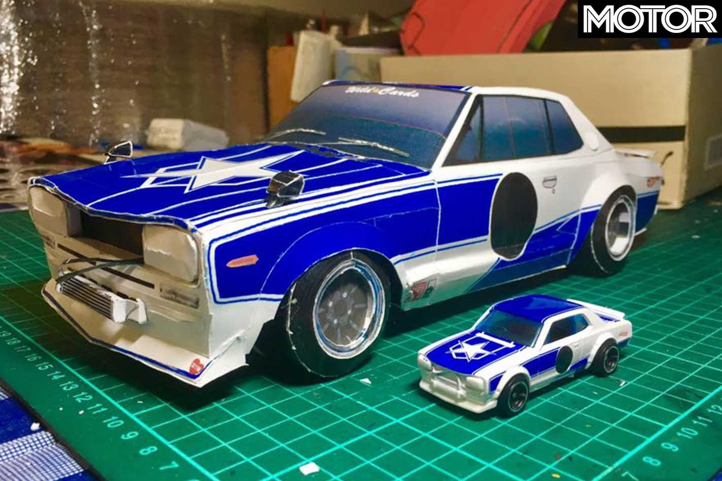 Paper car models created by 'Hacaosuka Designs'