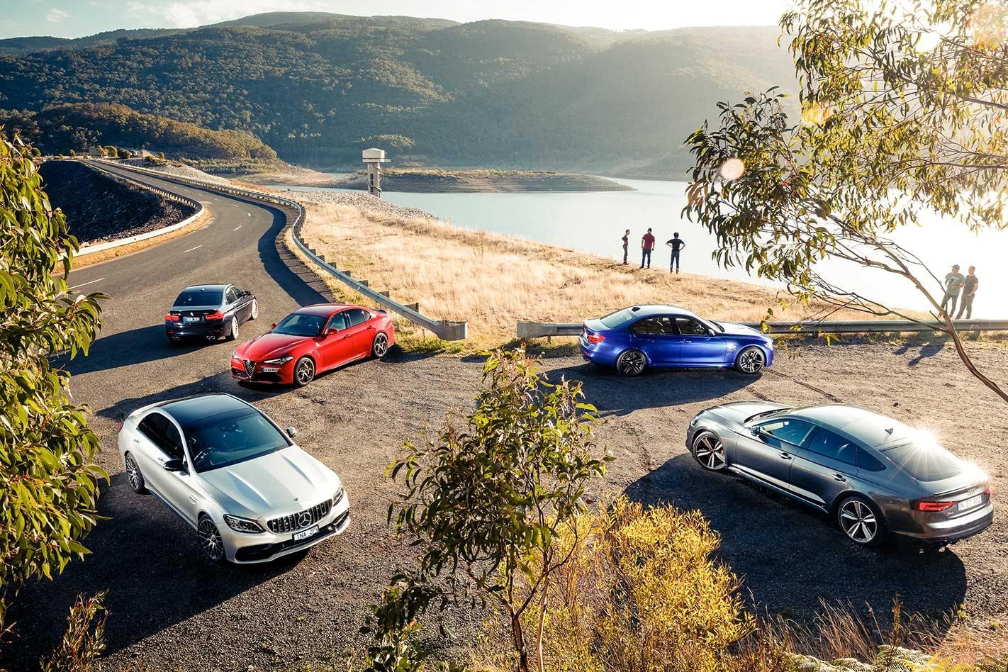 2019 Mercedes Amg C63 S Vs Audi Rs5 Sportback Vs Bmw M3 Pure Vs Alfa