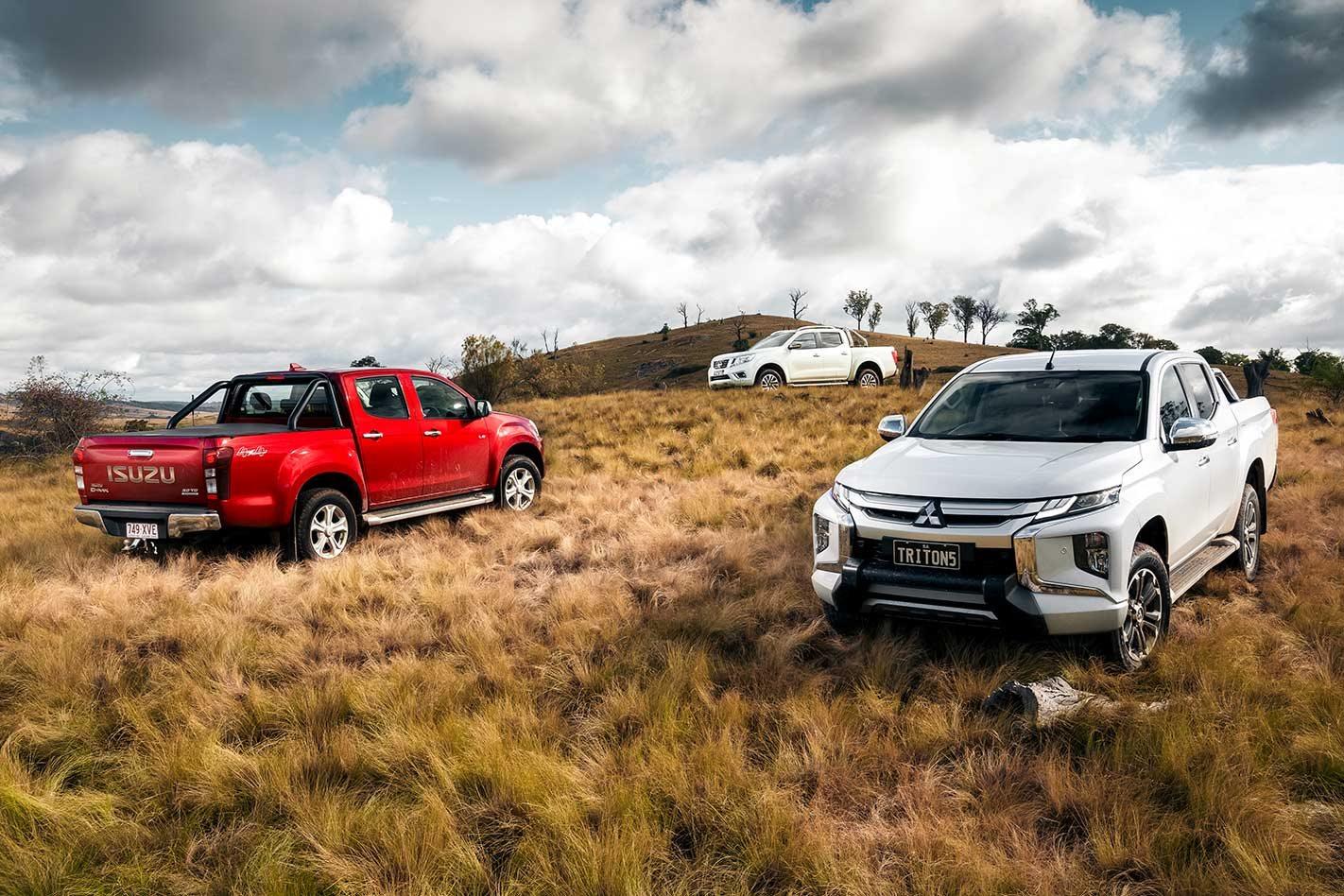 2019 Mitsubishi Triton vs Isuzu D-Max vs Nissan Navara