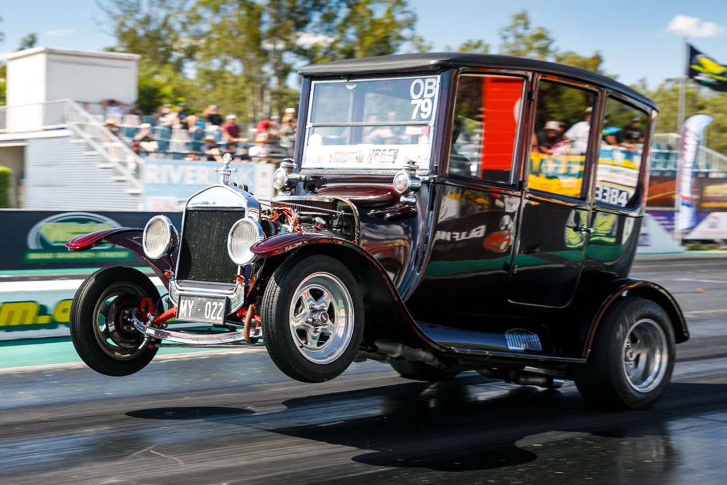 wheelstanding ford model  drag car video