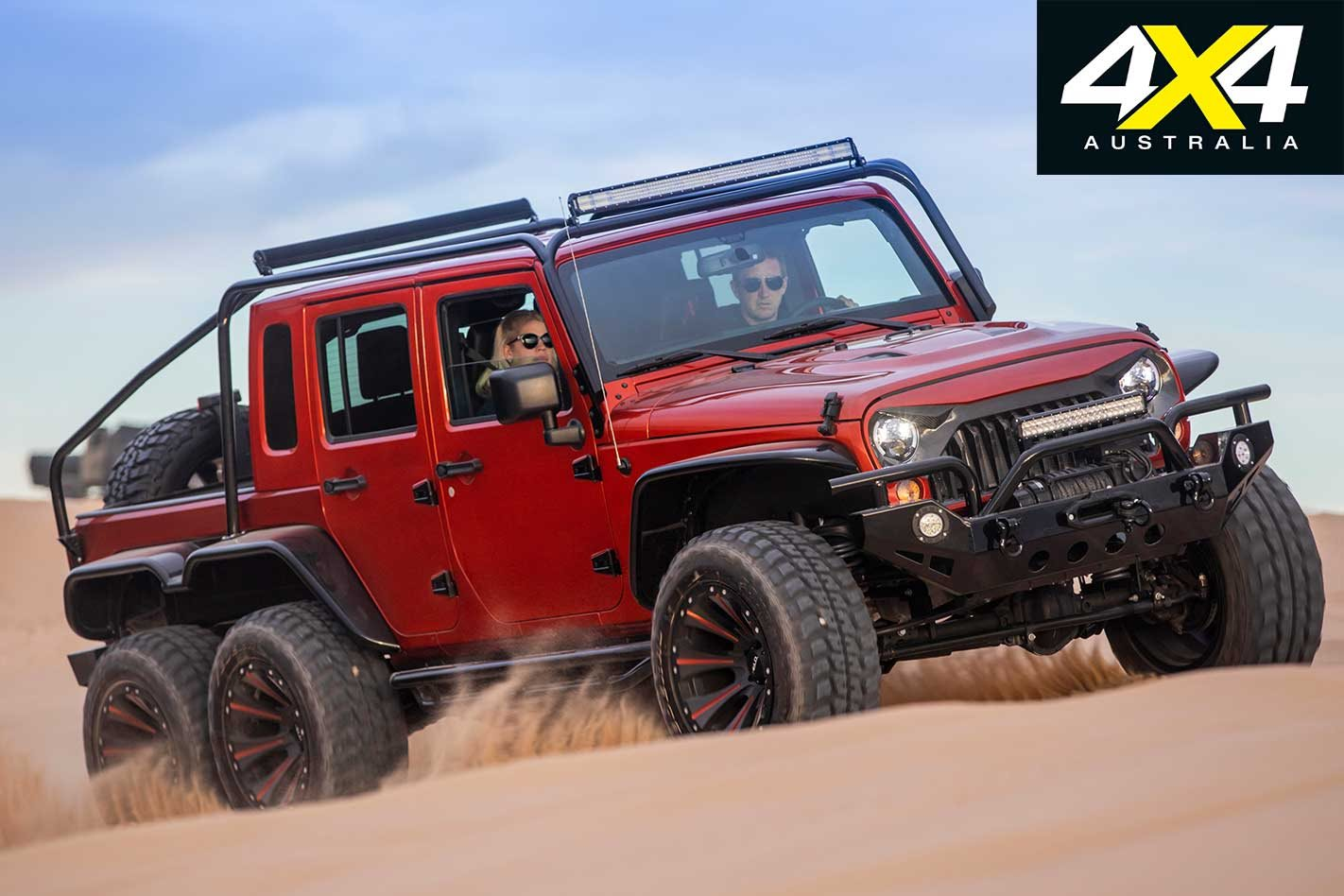 Hellcat V8 powered Jeep JK Wrangler 6x6 ute feature | 4x4